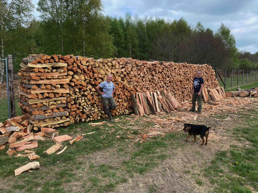 Brandhout voor volgende winter